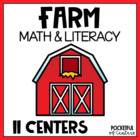 Farm Themed Math & Literacy Work Stations {12 Centers!}