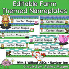 Farm Themed Nameplate/Deskplate/Nametags
