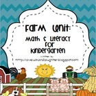 Farm Unit: Math and Literacy for Kindergarten