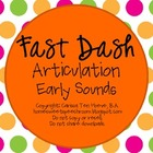 Fast Dash Articulation Early Sounds: Speech Therapy Activity
