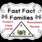 Fast Fact Families Set-Triangle Flash Cards, Posters and W