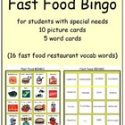 Fast Food Bingo cards (special education, multi needs, autism)