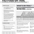 &quot;Fast Food on Trial&quot; evidence handout for &quot;Fast Food on Tr