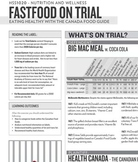 """Fast Food on Trial"" evidence handout for ""Fast Food on Tr"