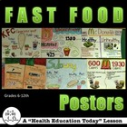 Fast Foods Lesson-Healthy Versus Unhealthy PowerPoint and Posters