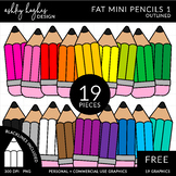 Fat Mini Pencils FREE {Graphics for Commercial Use}