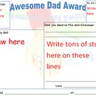 Father's Day Awesome Dad Award: Students Draw & Write Letter
