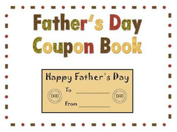 Father's Day Coupon Book - Great Gift Idea