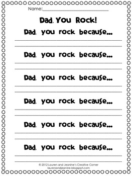 Father's Day: Dad, You Rock! mini book gift
