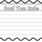 "Fathers Day ""Dad You Rule"""