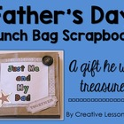 Father&#039;s Day Lunch Bag Scrapbook