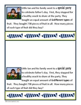 Father's Day Mathbooking - Math Journal Prompts (4th & 5th grade)