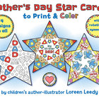 Father&#039;s Day Star Cards with Rotational Symmetry
