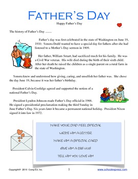 Father's Day Thematic Unit