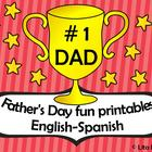 Father's day fun printables English and Spanish