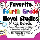 Favorite Fourth Grade Novel Studies Mega Bundle