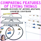 Features of Living Things Adapted Books for Autism, Specia