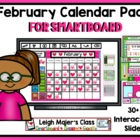 February Calendar Pack/Morning Meeting for Smartboard