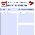 February Child Care Newsletter Template