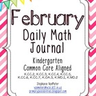 February Daily Math Journal (Common Core Aligned)