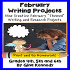 February Differentiated Writing Enrichment Menu (Common Co