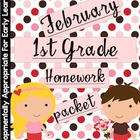February Homework Packet: 1st Grade (Little Valentines)