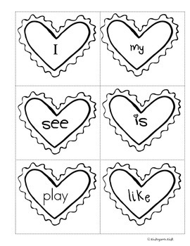 February Homework Packet: Kindergarten (Little Valentines)