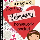 February Homework Packet: Preschool (Little Valentines)