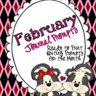 February Journal Prompts--Ready to Go Writing Activities