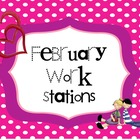 February Literacy Work Stations