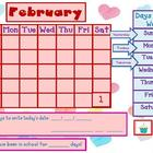 February Math Calendar for Mimio Board