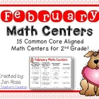 February Math Centers Menu {Common Core Aligned}