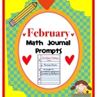 February Math Journal Prompts