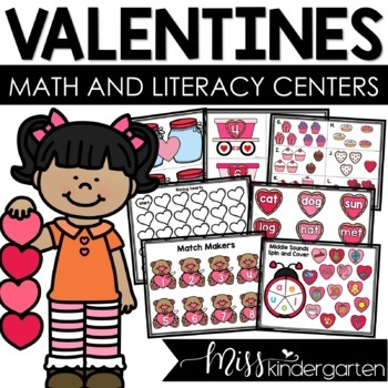 February Math and Literacy Centers {Bundled}