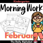 February Morning Work ~ Kindergarten