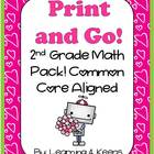 February Print and Go! Second Grade Math