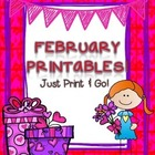 February Printables: Worksheets for February