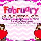 February Promeathean Board Calendar