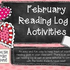 February Reading Log Packet for Intermediate Students