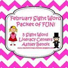 February Sight Word Literacy Fun Mini Packet