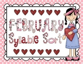 February Syllable Sort, Word Search, Calendar Activity, and MORE