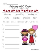 February Valentine ABC Order Fun