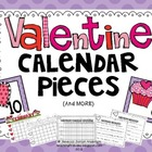 February Valentine Calendar Numbers and Activities