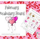 February Vocabulary Board