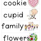 February Word Cards and Word Walls {in English and Spanish}
