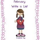 February Write a List