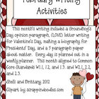 February Writing Activities (Aligned to Common Core)