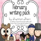 February Writing Pack {Journal Topics and Themed Writing P