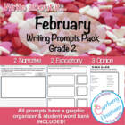 February Writing Prompts Pack 2 Narrative, 2 Expository, 3