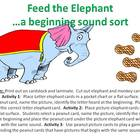 Feed the Elephant - a beginning sound sort